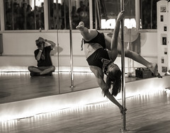 event, performing arts, pole dance, monochrome photography, entertainment, dance, monochrome, black-and-white, choreography, performance art,