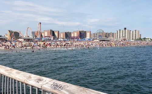 Coney Island from pier -- 10 years on