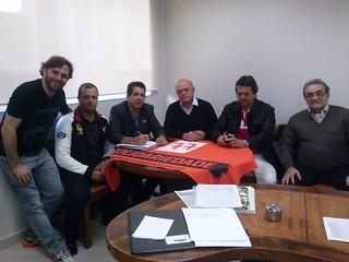 Deputado Gondim, Vicente Gondim, Roleandro Silva e Juliano (vereador de Jeriquara) são recebidos por David Martins e Jefferson Coriteac na sede do Solidariedade-SP