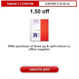 picture regarding School Supplies Printable Coupons identify $1.50/3 up up University Products Printable Coupon 3 No cost