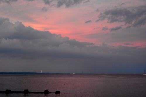 Sunset Drama Over Raritan Bay
