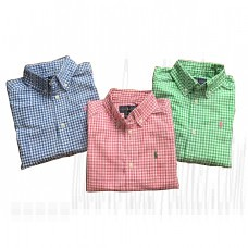 Boys Shirts Checked Cotton Oxford Shirt 3-20 Years
