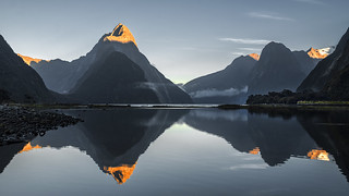 Sunrise Over Milford Sound, New Zealand