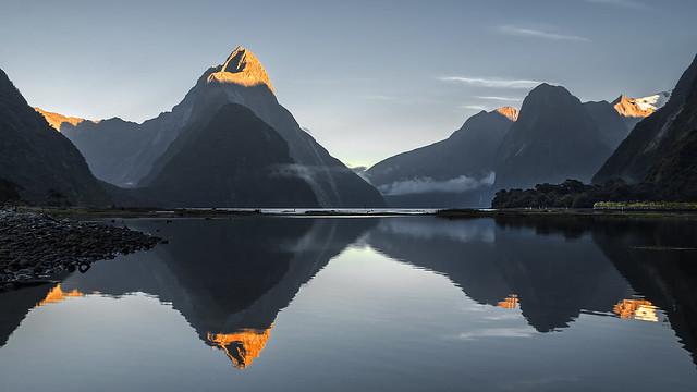 Sunrise Over Milford Sound, New Zealand