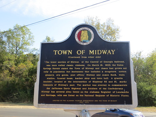 Town of Midway Marker (Reverse) Midway AL