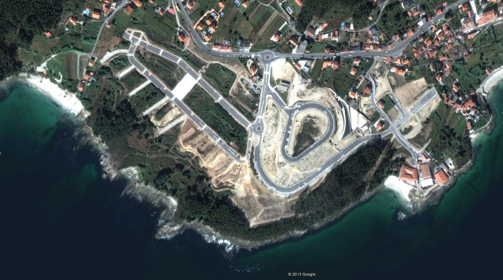 después, urbanismo, foto aérea,desastre, urbanístico, planeamiento, urbano, construcción, Sanxenxo, Pontevedra, costa