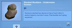 Stacked Boulders - Underwater Version