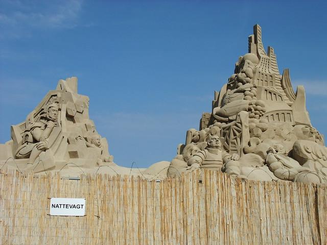 Copenhagen sand sculptures