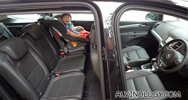 Here is a wider picture that better depicts how much space there is inside the car