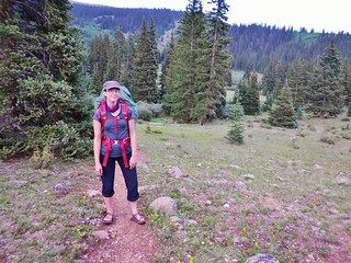 Erin Leading the Way to Helms Lake