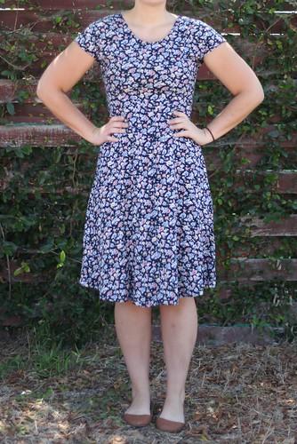 hemmed floral dress.