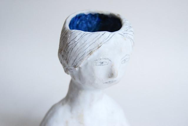 ceramic lady vase