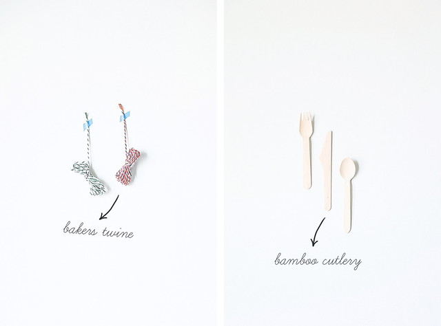 Bakers Twine & Bamboo Cutlery
