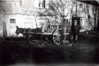 France, Nièvre, un habitant d'Aunay-en-Bazois, Hivers 1947 - 1948, région Bourgogne.