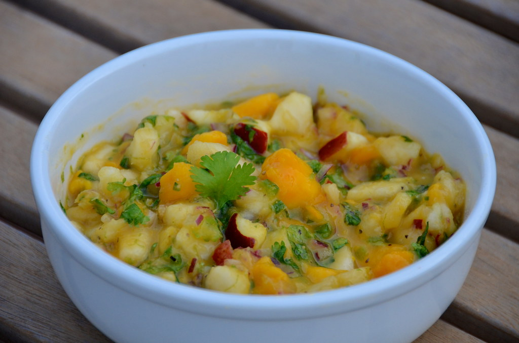 Spicy Pear and Mango Salsa