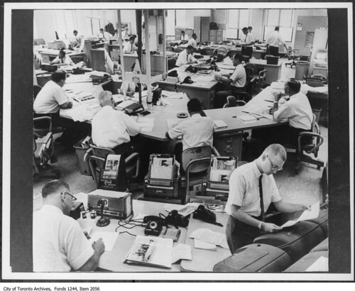 Newsroom in 1960s