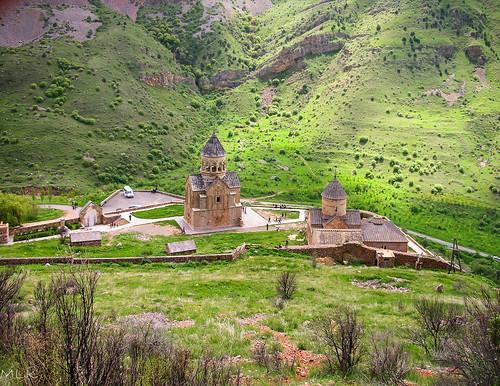 2006 armenia noravank architecture church landscape nature spire village wall areni vayotsdzor