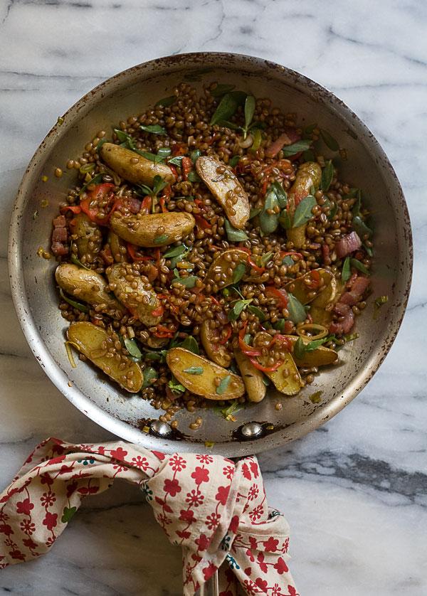 Wheat-Berry-Hash-with-Purslane-Pimenton-and-Potatoes