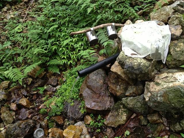 滝谷山 滝まわりコース 水場