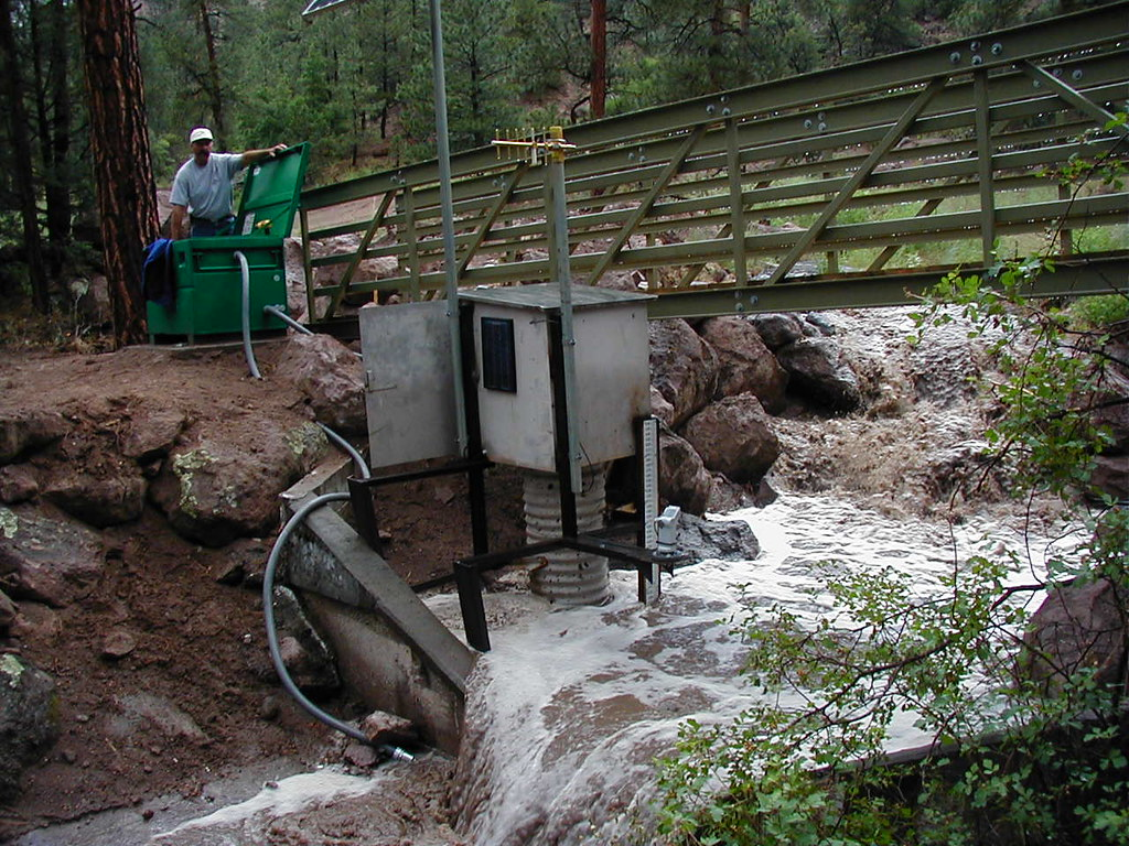 Monitoring stormwater in Los Alamos Canyon