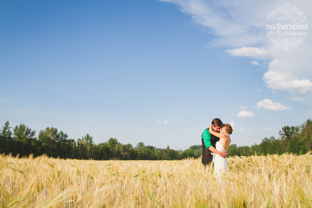 Newlyweds in the Barley