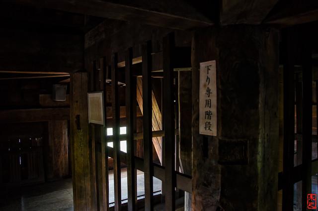 「八坂の塔二層目内部」 法観寺 - 京都