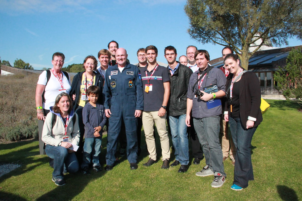 #SocialSpace ESTEC group photo with André Kuipers