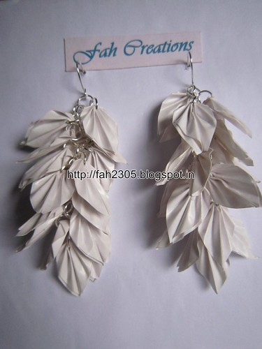 Handmade Jewelry - Origami Paper Leaves Earrings (3) by fah2305
