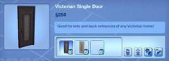 Victorian Single Door