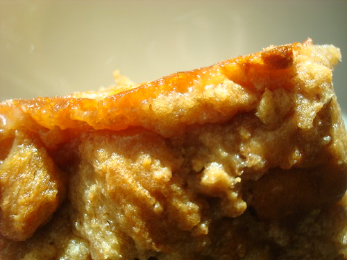 Peanut butter and jelly sandwich bread pudding
