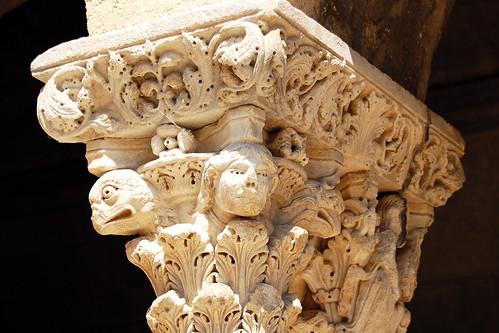 St-Trophime d'Arles Kreuzgang Kapitell Cloitre de Saint Trophime d'Arles Frankreich Kathedrale