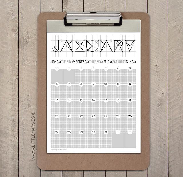 Calendario 2014 - LittleMars
