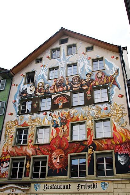 Frescoed building, Lucern, Switzerland