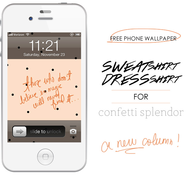 iphone background, polka dot phone wallpaper, iphone wallpaper, tiny black polka dots, cute graphic, cute iphone wallpaper, photoshop made wallpapers, graphic design examples, dress your tech, wacom bamboo tablet uses, peach colored wallpaper, handwritten text, cursive font