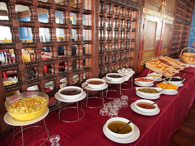 昨日旅館-今日早餐-這邊是甜的果醬蜂蜜類產品