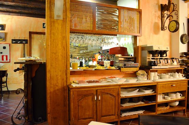 Breakfast buffet, Hotel Fonda de la Tea, Tejeda, Gran Canaria