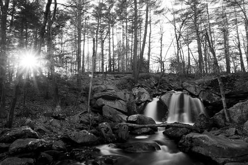 thanksgiving sunset bw fall forest canon river blackwhite waterfall stream autum massachusetts newengland falls brook ashby 1740l 1dsmarkii stateforest trapfalls willardbrookstateforest trapfallbrook