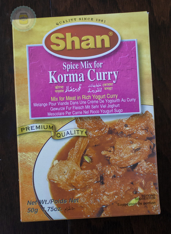 Packet of Shan curry powder spice mix