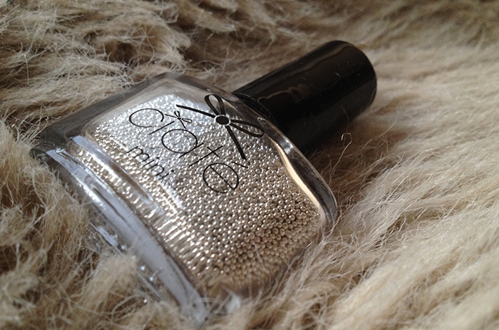 Caviar beads metallic silver