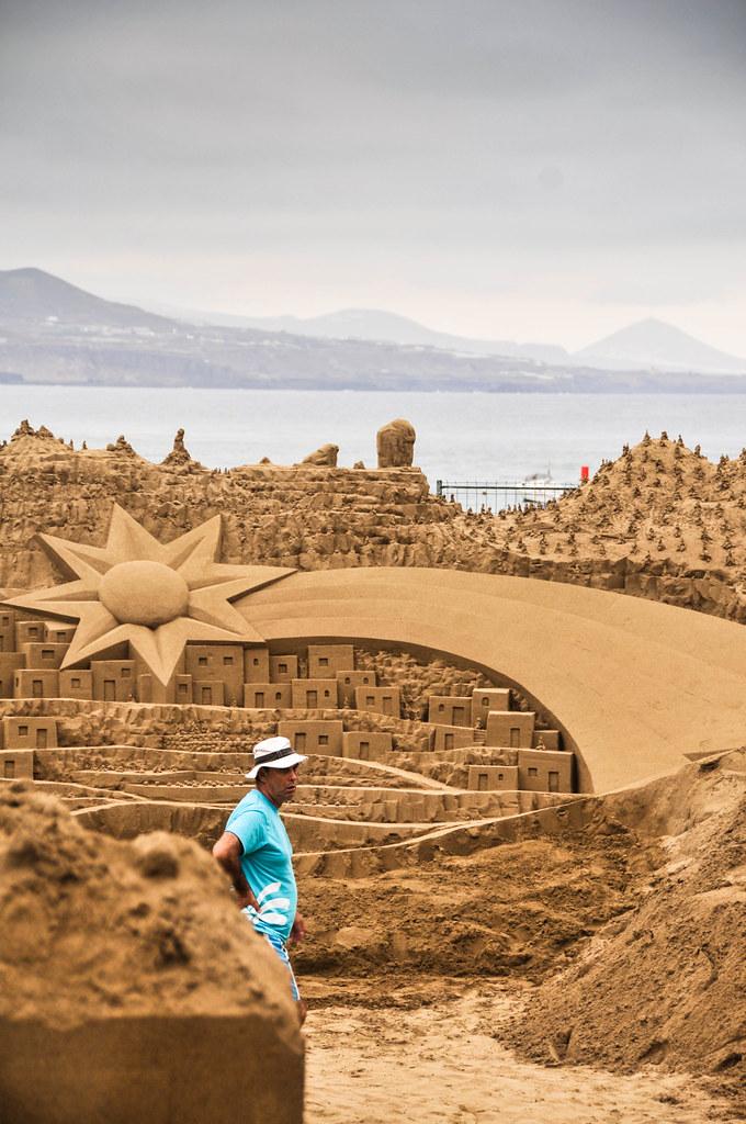 Christmas Scene in sand in Las Palmas