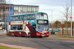 This bus was new to Lothian Buses as 814 in 2006. Seen here at West Granton...