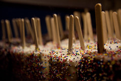 Popsicle Sticks of Fudge Covered in Sprinkles at Kilwin's - Miami Beach, FL