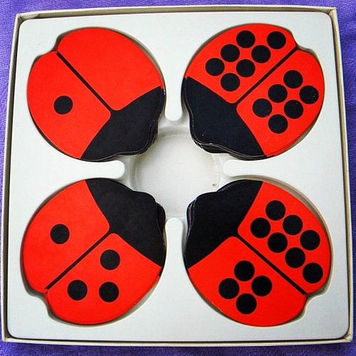 11th hour present shopping: #CreativePlaythings ladybug dominoes, 1970. #FredunShapur