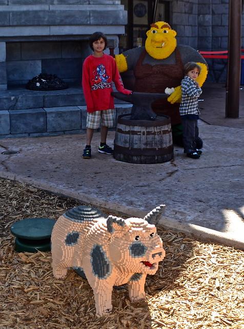 Legoland, Florida - Ogres and Pigs art