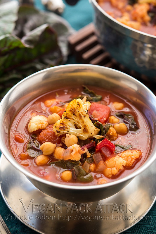 Roasted Cauliflower Tomato Soup | Vegan Yack Attack