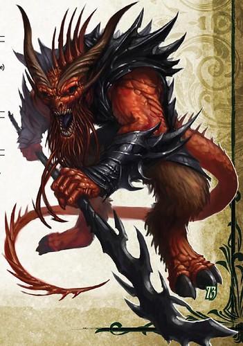 baatezu Barbazu - by Tyler Walpole Jason Bulmahn **//Dungeons & Dragons Pathfinder - Bestiario//**, Paizo Publishing, LLC, Wyrd Edizioni, **2009**