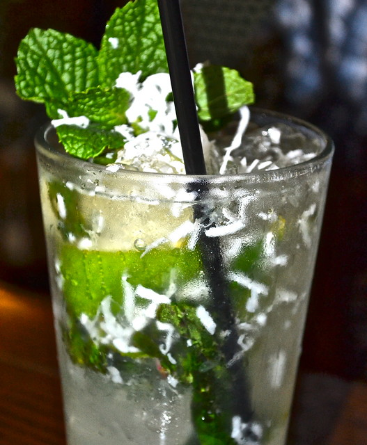 JB's on the Beach restaurant, Deerfield Beach, Florida - coconut mojito