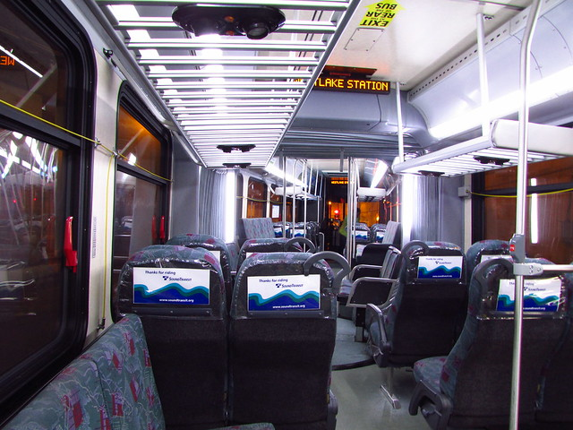 Sound Transit 2010 New Flyer DE60LF interior (9633K)