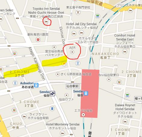 sendai station map
