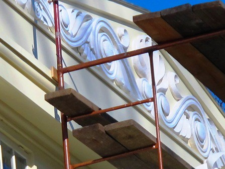 Restoration of the Mansion pediment 2013